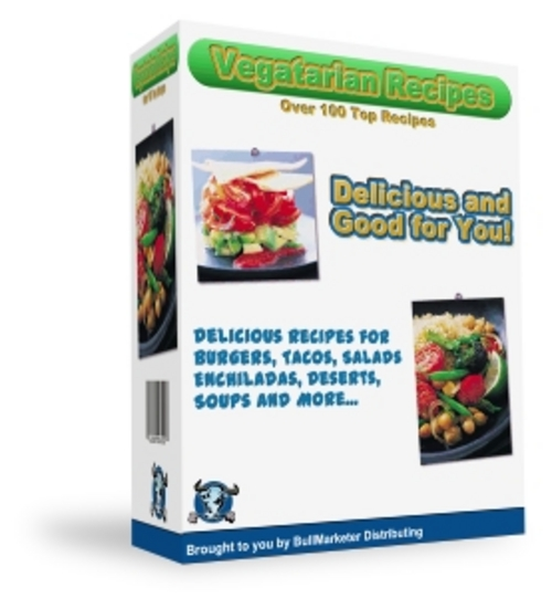 Product picture Vegetarian Recipe eBook Marketing Kit